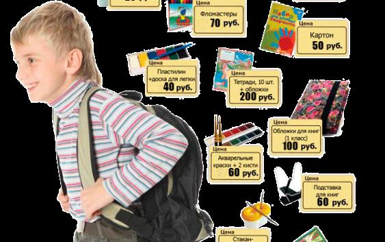 Стоимость портфеля первоклассника