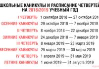 Сроки проведения каникул для воронежских школьников  на 2018/2019 учебный год