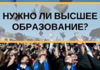 Важность получения высшего образования для карьеры