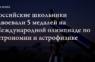 Российские студенты завоевали пять медалей на международной олимпиаде по астрономии и астрофизике