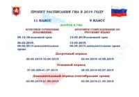 Рособрнадзор опубликовал проект расписания ГИА-11 и ГИА-9 на 2019 год