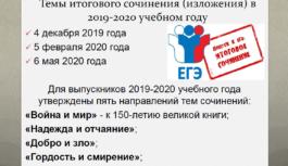 В российских школах изменят порядок оглашения тем итогового сочинения для одиннадцатиклассников