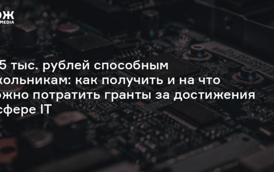 Грант в размере 125 тысяч рублей за выдающиеся достижения