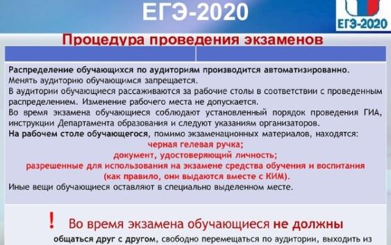 Правила сдачи ЕГЭ 2020